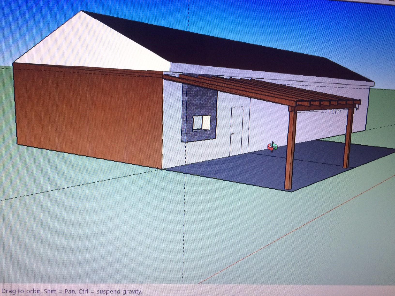 תכנון פרגולת עץ באמצעות sketchup